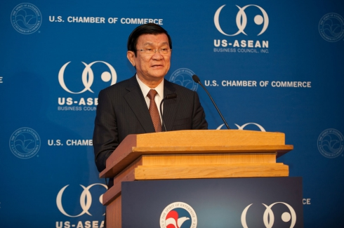 Vietnam's President Truong Tan Sang Visit to Washington, DC - Jul 24, 2013