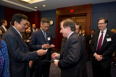 Rep. Royce Greets ASEAN Ambassadors at ASEAN Matters for America Forum - Apr 9, 2014