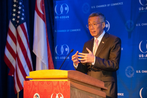 Singapore Prime Minister Lee in Washington, DC - Apr 2, 2013