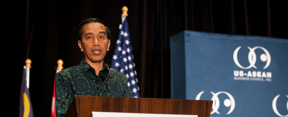 H.E. Joko Widodo, President of the Republic of Indonesia, delivers a keynote at the Council's AEC Conference on February 17, 2016